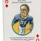 BRUCE CLARK 2008 Penn State Hero Decks Playing Card SAINTS DT 1976-79