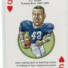 D.J. DJ DOXIER 2008 Penn State Hero Decks Playing Card VIKINGS RB 1983-86