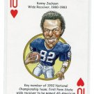 KENNY JACKSON 2008 Penn State Hero Decks Playing Card NY JETS WR 1980-83