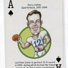 KERRY COLLINS 2008 Penn State Hero Decks Playing Card TITANS RAIDERS GIANTS PANTHERS QB 1992-94