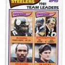 FRANCO HARRIS / BLOUNT / JACK LAMBERT / JOHN STALLWORTH / DUNN 1982 Topps TL Steelers PENN STATE