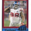 FRED ROBBINS 2007-2008 Topps Super Bowl XLII Commemorative #15 New York NY Giants