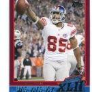 DAVID TYREE 2007-2008 Topps Super Bowl XLII Commemorative #24 New York NY Giants MICHIGAN STATE