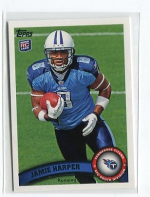 JAMIE HARPER 2011 Topps #382 ROOKIE Titans CLEMSON TIGERS RB
