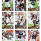 (9) Cleveland BROWNS 2011 Topps Team Lot NO DUPES