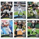 (10) Oakland RAIDERS 2011 Topps Team Lot NO DUPES