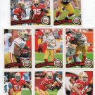 (8) San Francisco 49ers 2011 Topps Team Lot NO DUPES