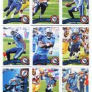 (9) Tennessee TITANS 2011 Topps Team Lot NO DUPES