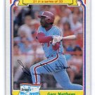GARY MATTHEWS 1984 Topps Drake's Big Hitters #21 Philadelphia Phillies DAMAGED