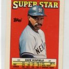 DAVE WINFIELD 1988 Topps Mini #54 New York NY Yankess