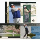 (4) FRED COUPLES 2001-04 Upper Deck UD SP Authentic lot