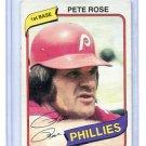 PETE ROSE 1980 Topps #540 Philadelphia Phillies