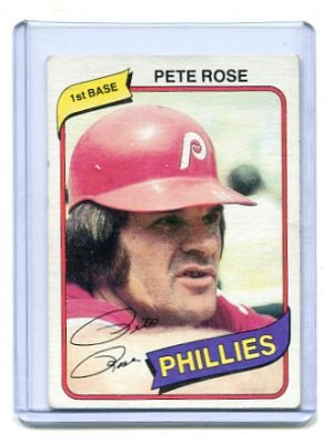 PETE ROSE 1980 Topps #540 Philadelphia Phillies