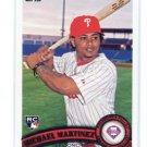 MICHAEL MARTINEZ 2011 Topps Series 2 #524 ROOKIE Philadelphia Phillies