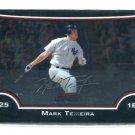 MARK TEIXEIRA 2009 Bowman Chrome #117 New York NY Yankees