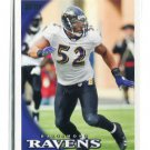 RAY LEWIS 2010 Topps #160 Ravens MIAMI CANES Hurricanes