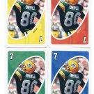 (4) DONALD DRIVER 2007 Uno Card Game #7 Lot ALL 4 COLORS Green Bay GB Packers