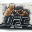 JOSH KOSCHEK 2010 Topps UFC Event-Used Octagon MAT RELIC #d/288