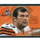 JOE THOMAS 2011 Panini Sticker #96 Browns WISCONSIN Badgers
