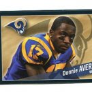DONNIE AVERY 2011 Panini Sticker #417 St. Louis Rams