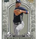 ALBERTO GONZALEZ 2008 Upper Deck UD Artifacts A Piece Of History #129 ROOKIE New York NY Yankees