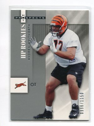 ANDREW WHITWORTH 2006 Fleer Hot Prospects #146 ROOKIE Bengals  LSU Tigers #d/1150