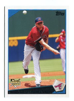 TOMMY HANSON 2009 Topps Updates & Highlights #UH10 ROOKIE Atlanta Braves