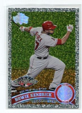 HOWIE KENDRICK 2011 Topps Update Series DIAMOND ANNIVERSARY SP #US293 Angels