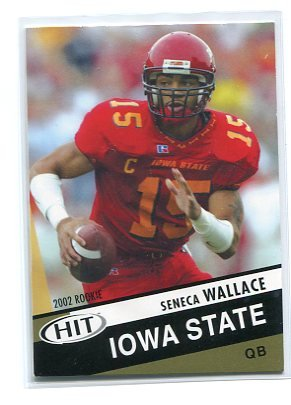 SENECA WALLACE 2003 Sage Hit #14 ROOKIE Seahawks BROWNS Iowa State QB