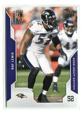 RAY LEWIS 2008 Upper Deck UD Draft Edition #110 Ravens MIAMI CANES Hurricanes