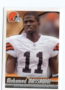 MOHAMED MASSAQUOI 2010 Panini Sticker #124 Browns GEORGIA DAWGS Bulldogs