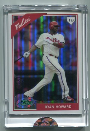 RYAN HOWARD 2009 eTopps #41  -  CARD IN HAND  -  Phillies #d/999