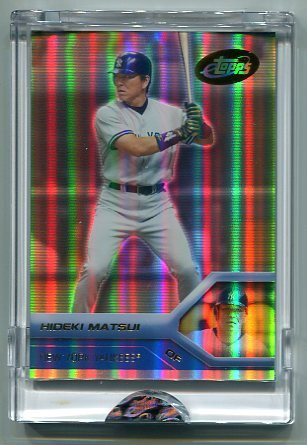 HIDEKI MATSUI 2005 eTopps #55  -  CARD IN HAND  -  New York NY Yankees