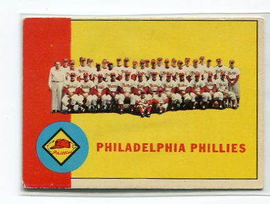 Philadelphia PHILLIES 1963 Topps Team Card #13