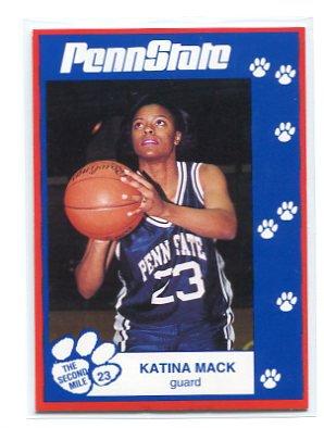 KATINA MACK 1993 Penn State Second Mile WOMENS BASKETBALL