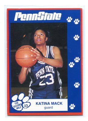 KATINA MACK 1993 Penn State Second Mile WOMENS BASKETBALL