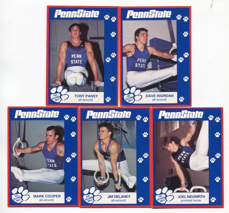 (5) Men's Gymnastics 1993 Penn State Second Mile Lot