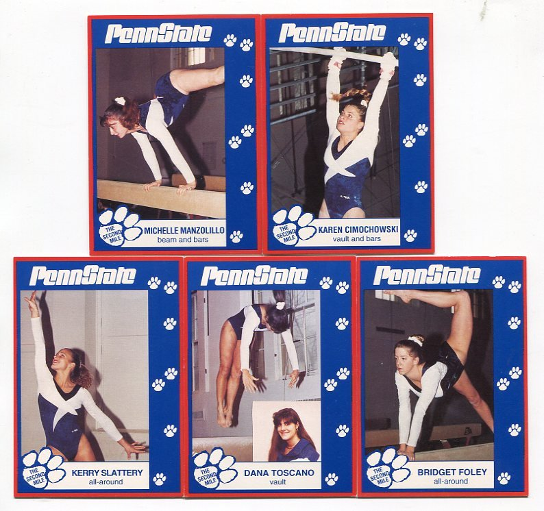 (5) Women's Gymnastics 1993 Penn State Second Mile Lot