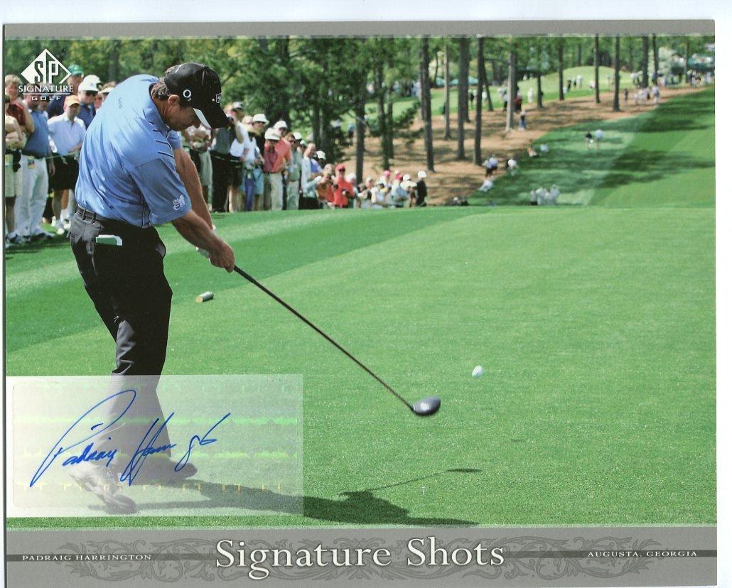 PADRAIG HARRINGTON 2005 SP Signature Golf Signature Shots AUTO Signed AUTOGRAPH 8x10 PGA