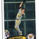 ALEX PRESLEY 2011 Topps Update Series #US148 ROOKIE Pittsburgh Pirates