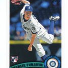 CHARLIE FURBUSH 2011 Topps Update Series #US173 ROOKIE Mariners