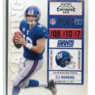 ELI MANNING 2010 Panini Playoff Contenders #64 New York NY Giants OLE MISS QB