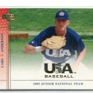LARS ANDERSON 2005 Upper Deck UD USA #USA-93 RC Rookie BOSTON Red Sox