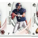 QUARTERBACK SALE:  (3) 2010 SP Authentic QB lot: Cutler, Schaub, Hasselbeck