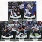 (5) Houston TEXANS 2010 Panini Leaf Certified Team Lot NO DUPES