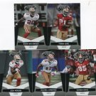 (5) San Francisco SF 49ers 2010 Panini Leaf Certified Team Lot NO DUPES
