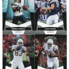(4) San Diego SD CHARGERS 2010 Panini Leaf Certified Team Lot NO DUPES