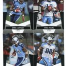 (4) Tennessee TITANS 2010 Panini Leaf Certified Team Lot NO DUPES