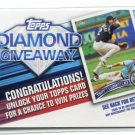 DIAMOND GIVEAWAY Redemption Card 2011 Topps INSERT #TDG-15