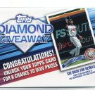 DIAMOND GIVEAWAY Redemption Card 2011 Topps INSERT #TDG-14
